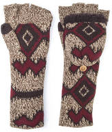 Muk Luks Women's Gaucho Girl Long Flip Mittens