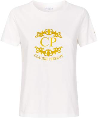 Claudie Pierlot Embroidered Logo T-Shirt