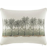 Tommy Bahama Canvas Stripe Breezer Palm Faux-Linen Pillow