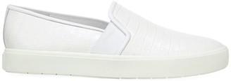 Vince Blair Croc-Embossed Leather Slip-On Sneakers