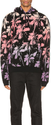 Saint Laurent Hoodie in Black & Yellow & Rose & Violet | FWRD