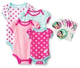 Minnie Mouse Birthday Bodysuit Sticker Gift Set