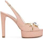 Casadei glitter detail sandals