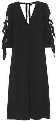 Bottega Veneta Bow-adorned crepe dress