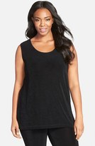 Vikki Vi Plus Size Women's Sleeveless Stretch Knit Tunic