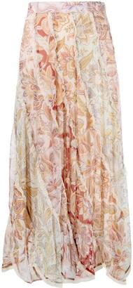 Zimmermann Ladybeetle spliced midi skirt