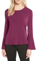 CeCe Women's Bell Sleeve Knit Top