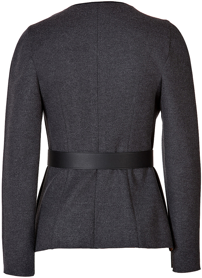 Fendi Wool Pleated Front Jacket