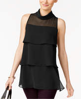 Alfani Tiered Cowl-Neck Top, Created for Macy's