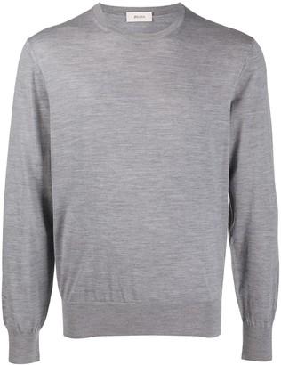 Ermenegildo Zegna Crew Neck Wool Sweatshirt