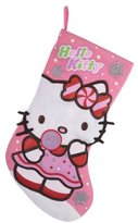"Kurt Adler [h1 Hello Kitty Felt Printed Stocking 19""[/h1]"
