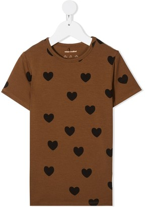 Mini Rodini heart-print T-shirt