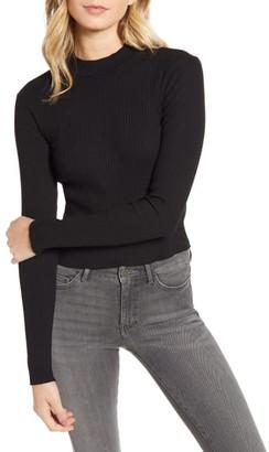 Stateside Ribbed Mock Neck Sweater
