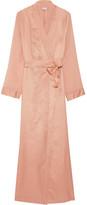 La Perla Jazz Time Silk Chiffon-trimmed Cotton-muslin Robe - Antique rose
