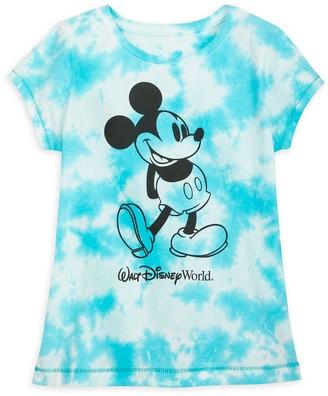 Disney Mickey Mouse Tie-Dye T-Shirt for Girls Walt World Blue