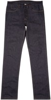 Gucci Dark Blue Embroidered Skinny Jeans
