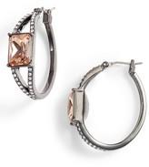 Jenny Packham Women's Stone Hoop Earrings