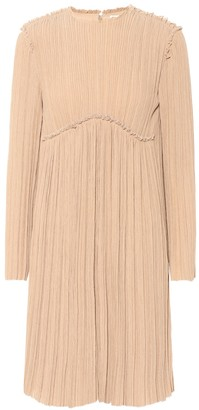 Chloé Crepe pleated dress