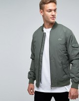 Lacoste Bomber Jacket In Green