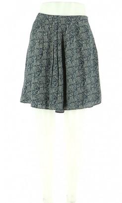 Comptoir des Cotonniers Navy Silk Skirt for Women