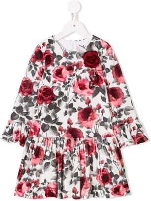 Miss Blumarine Rose Applique Dress