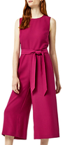 Warehouse Open Back Culotte Jumpsuit, Bright Pink