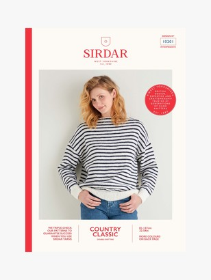 Sirdar Country Classic DK Jumper Knitting Pattern