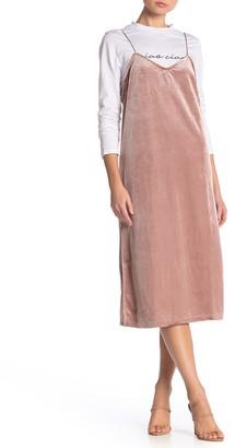 ENGLISH FACTORY Twofer Corduroy Slip Dress