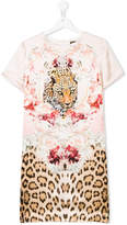 Roberto Cavalli teen tiger printed dress