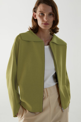 Cos Knitted Wool-Cotton Jacket