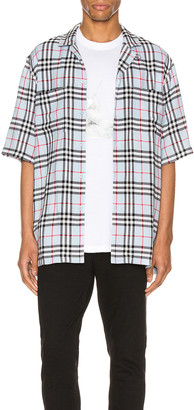 Burberry Raymouth Button Down Shirt in Pale Blue IP Check | FWRD