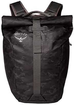 Osprey Transporter Roll Top Pack (Camo Black) Backpack Bags