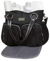 RBS Wendy Bellissimo Shirred Pocket Tote Diaper Bag - Black