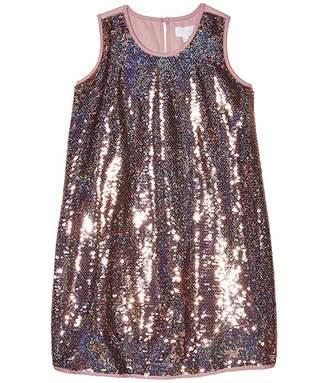 BCBGMAXAZRIA Girls Sleeveless Iridescent Sequin Dress (Big Kids)