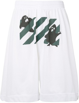 Off-White Diagonals Print Track Shorts