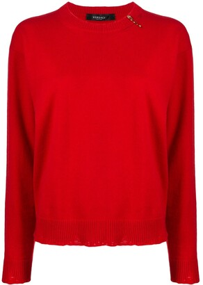 Versace Safety Pin Detail Jumper
