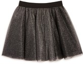 Aqua Girls' Layered Metallic Tulle Skirt, Big Kid - 100% Exclusive