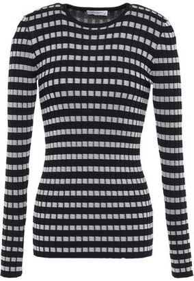 Equipment Saviny Striped Ribbed-knit Top