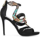 Roberto Cavalli snake embellished sandals