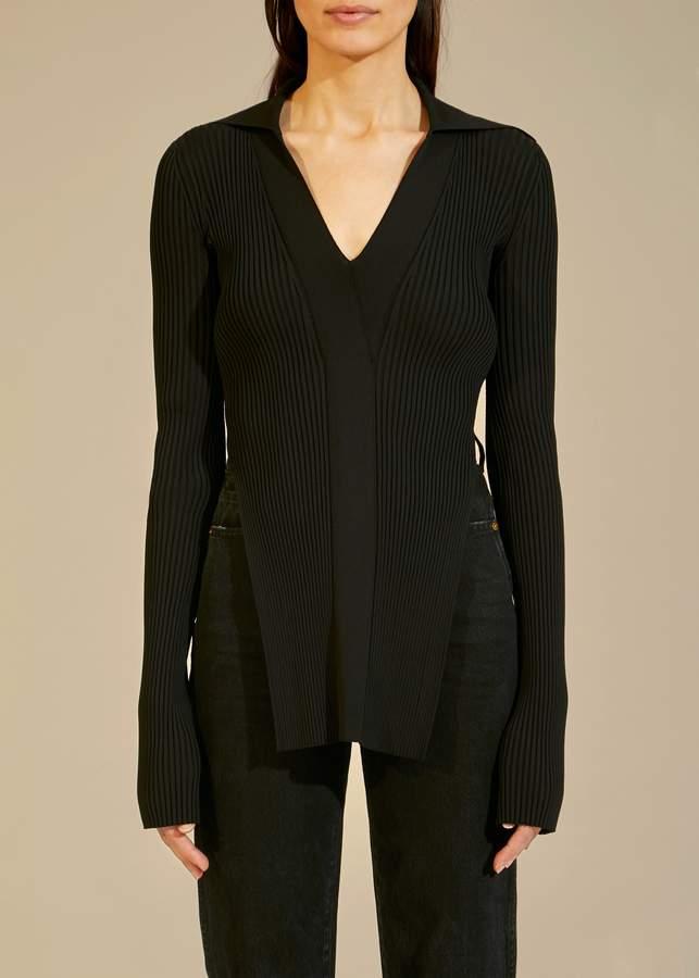 KHAITE The Lilia Sweater in Black