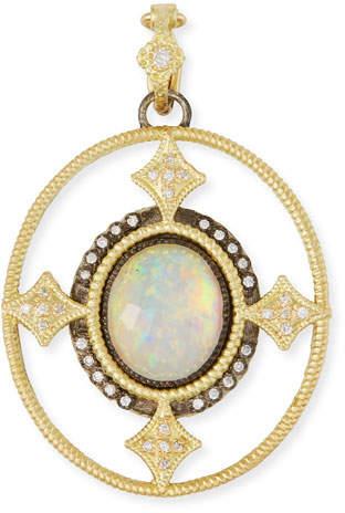 Armenta Old World Opal Triplet Enhancer Pendant w/ 18k Gold