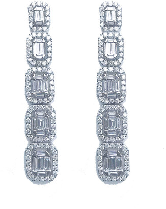 Arthur Marder Fine Jewelry 18K 3.50 Ct. Tw. Diamond Drop Earrings