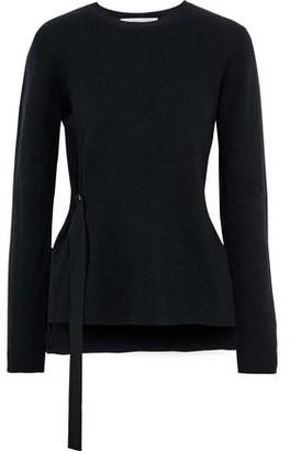 Stella McCartney Buckle-detailed Ribbed Wool Sweater