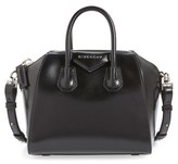 Givenchy 'Mini Antigona' Box Leather Satchel - Black