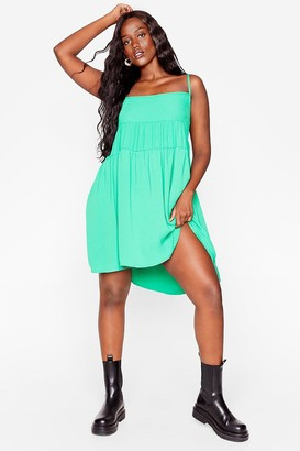 Nasty Gal Womens Right Tier Right Now Plus Mini Dress - Bright Green
