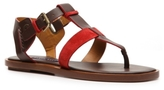Ralph Lauren Final Sale Reesa Leather and Suede Flat Sandal