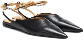 Jil Sander Slingback leather ballet flats