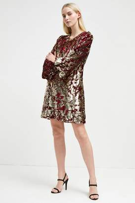 French Connenction Ethel Sequin Tunic Dress