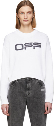 Off-White White Logo Knit Sweater