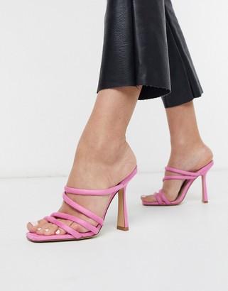 Aldo Arianna strappy heel sandal in pop pink